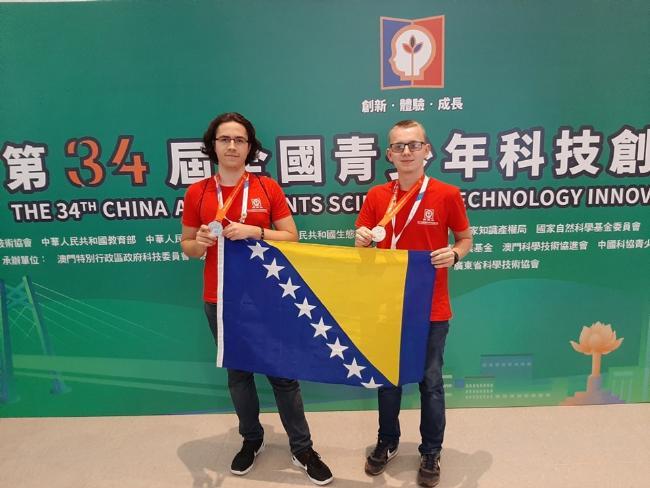 Učenici iz BiH osvojili srebrnu medalju na takmičenju projekata 2019 u Kini