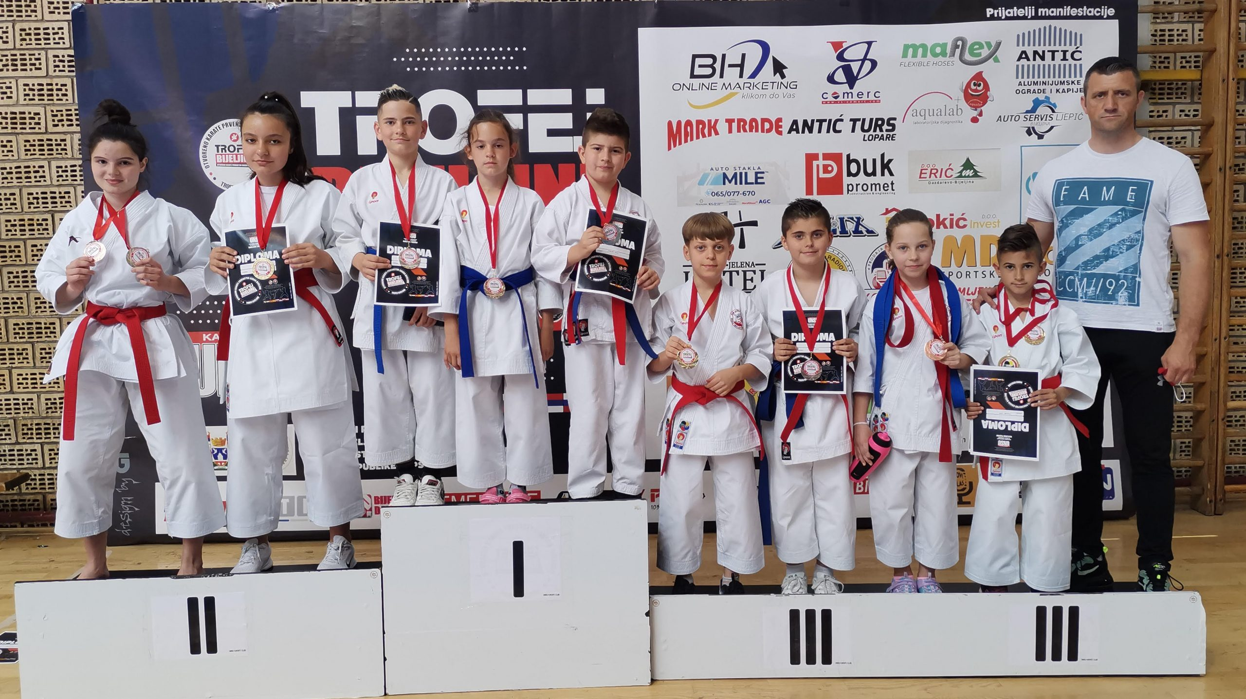 """FOTO: Trinaest medalja za KBS Zmaj na takmičenju """"Trofej Bijeljine 2021"""""""